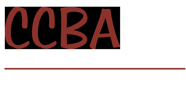 CCBA Logo White Type
